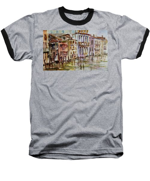 Baseball T-Shirt featuring the painting Venice Impression II by Xueling Zou