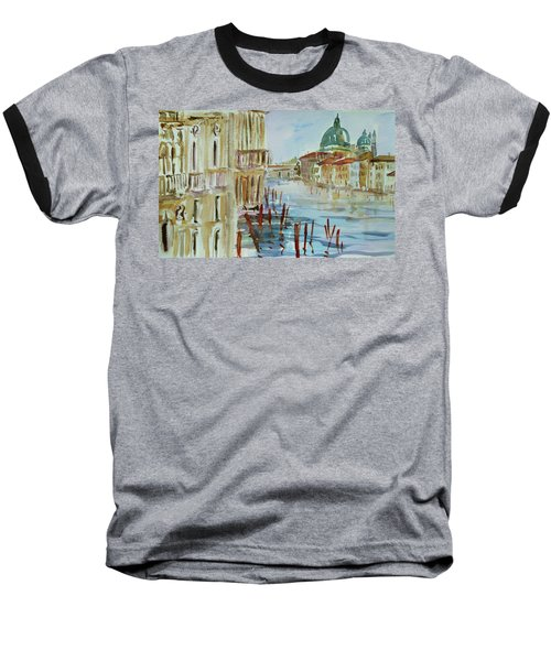 Baseball T-Shirt featuring the painting Venice Impression IIi by Xueling Zou