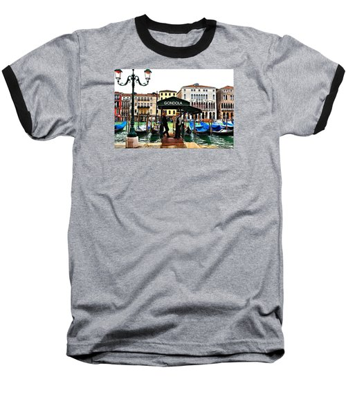 Baseball T-Shirt featuring the photograph Venice - Off Season by Laura Ragland
