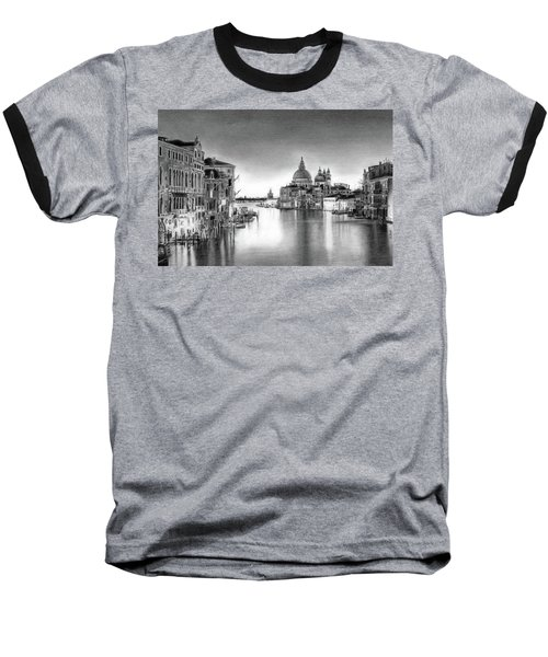 Venice Pencil Drawing Baseball T-Shirt