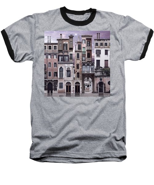 Venice Reconstruction 1 Baseball T-Shirt by Joan Ladendorf