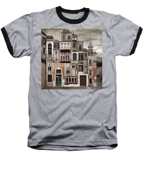 Venice Reconstruction 2 Baseball T-Shirt by Joan Ladendorf