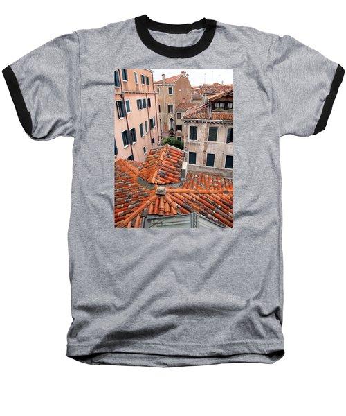 Venice Roof Tiles Baseball T-Shirt by Lisa Boyd