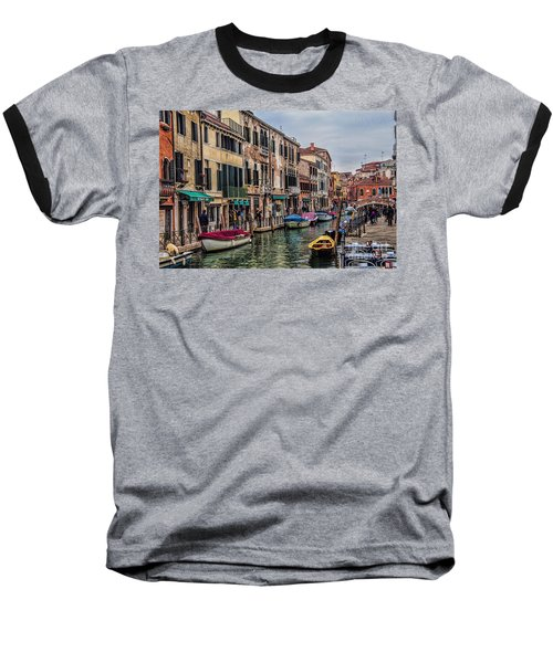 Baseball T-Shirt featuring the photograph Venice Street Scenes by Shirley Mangini