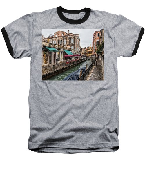 Baseball T-Shirt featuring the photograph Venice 'streets' by Shirley Mangini
