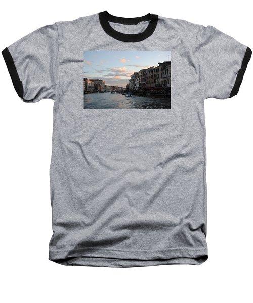 Venice Sunset Baseball T-Shirt by Robert Moss