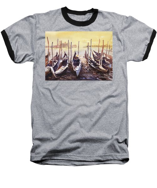 Baseball T-Shirt featuring the painting Venice Watercolor- Italy by Ryan Fox