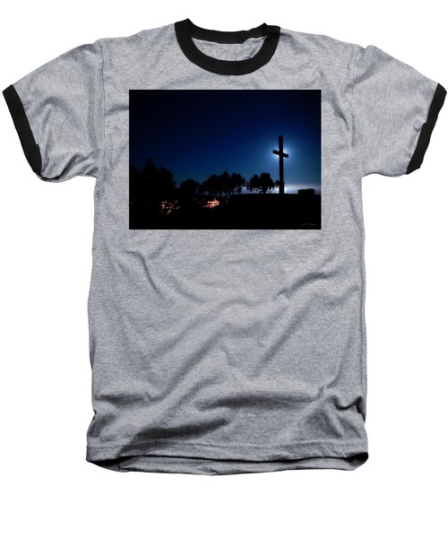 Ventura Ca Cross At Moonset Baseball T-Shirt