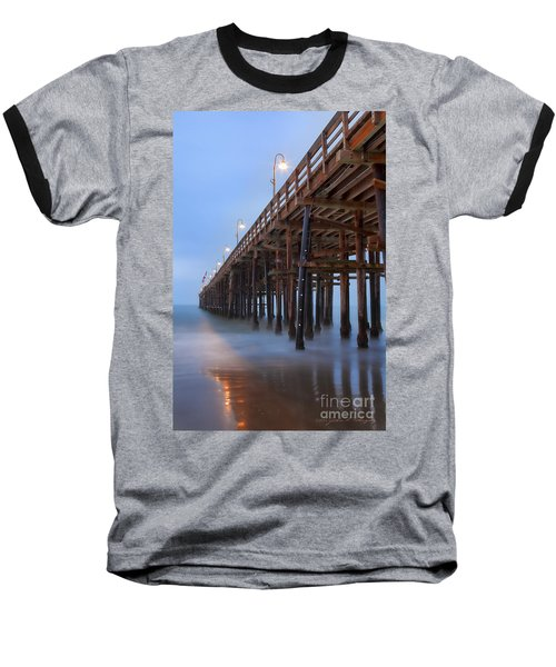 Ventura Ca Pier At Dawn Baseball T-Shirt