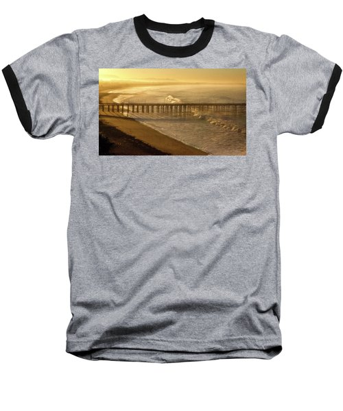 Ventura, Ca Pier At Sunrise Baseball T-Shirt