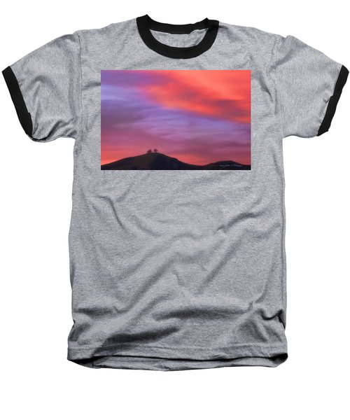 Baseball T-Shirt featuring the photograph Ventura Ca Two Trees At Sunset by John A Rodriguez