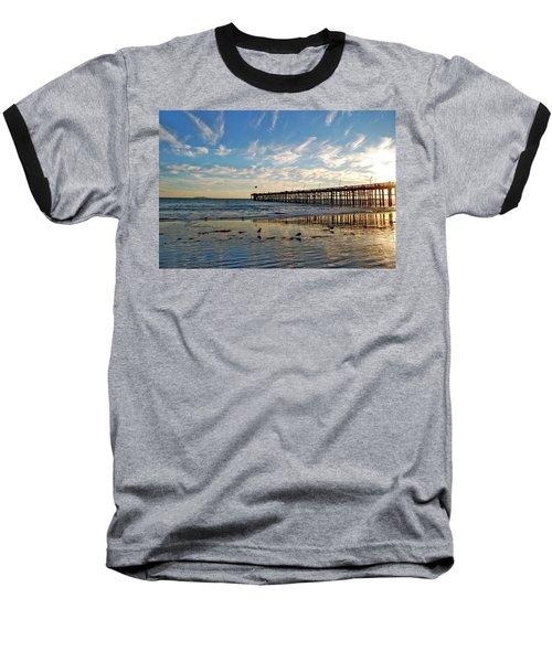 Ventura Pier At Sunset Baseball T-Shirt
