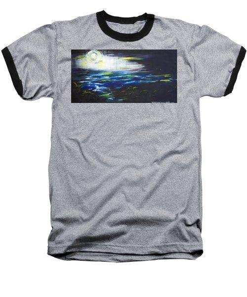 Ventura Seascape At Night Baseball T-Shirt by Sheridan Furrer