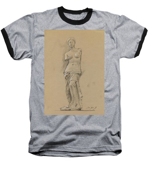 Venus De Milo Baseball T-Shirt by Juan Bosco