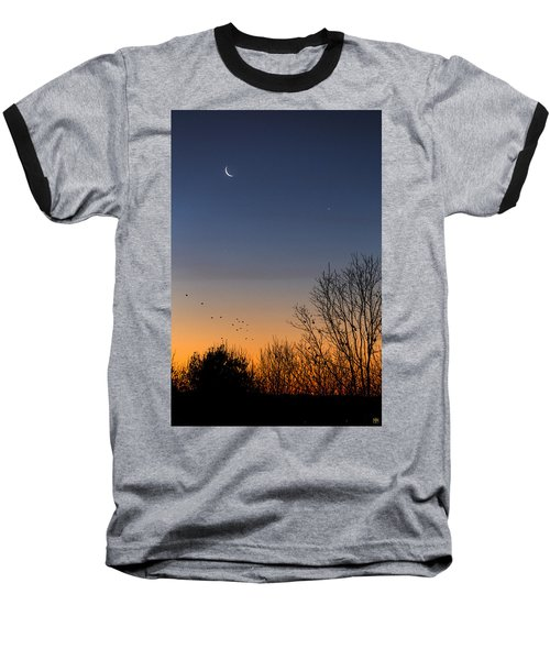 Venus, Mercury And The Moon Baseball T-Shirt