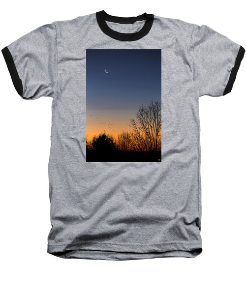 Venus, Mercury And The Moon Baseball T-Shirt