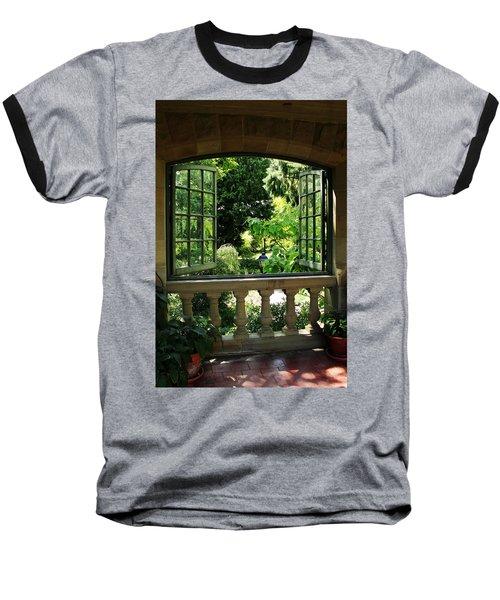 Veranda View Baseball T-Shirt by Natalie Ortiz