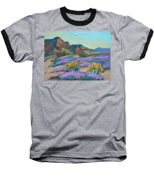 Baseball T-Shirt featuring the painting Verbena And Spring by Diane McClary