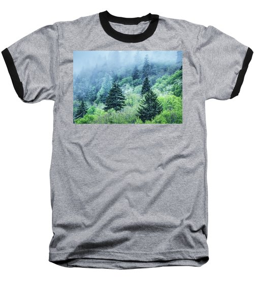 Verdant Forest In The Great Smoky Mountains Baseball T-Shirt