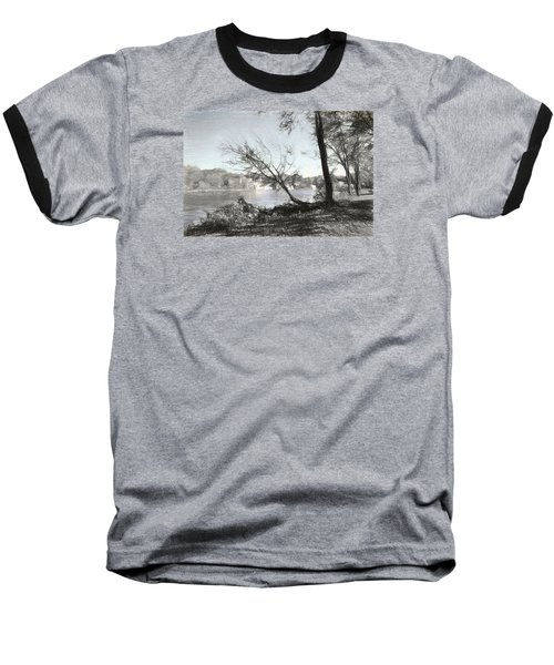 Vergennes Falls Digital Charcoal Baseball T-Shirt