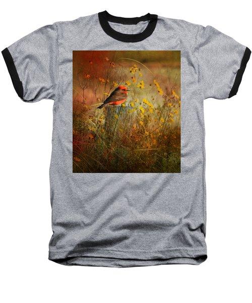 Vermilion Flycatcher At St. Marks Baseball T-Shirt