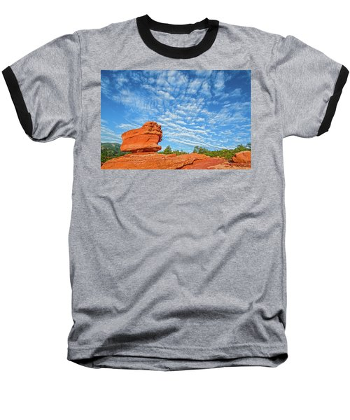 Vermillion Is The Color Of The Rock.  Baseball T-Shirt