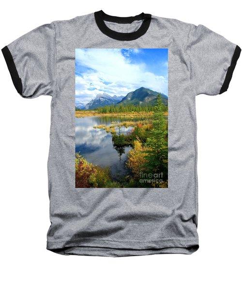 Vermillion Kaleidoscope  Baseball T-Shirt