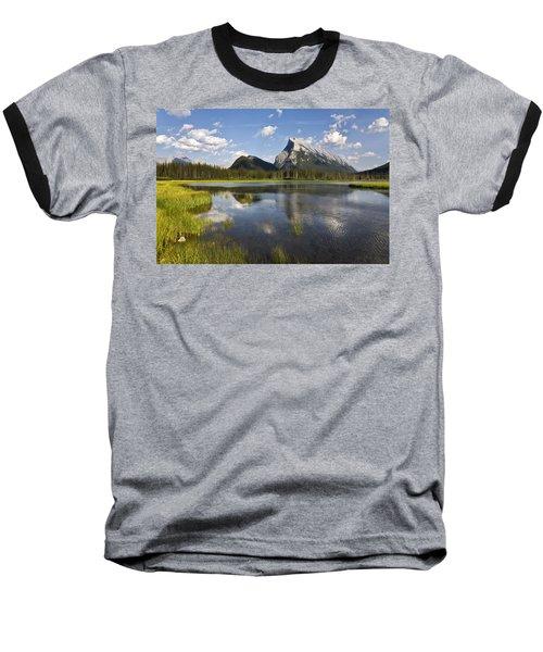 Vermillion Lake And Sulpher Mountain Baseball T-Shirt