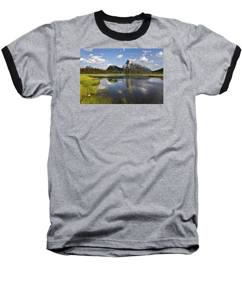 Vermillion Lake And Sulpher Mountain Baseball T-Shirt