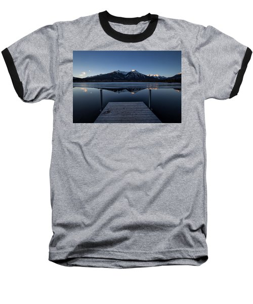Vermillion Lakes At Dawn Baseball T-Shirt