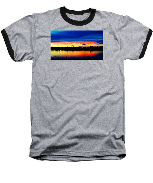 Vermillion Sunset Baseball T-Shirt by Eric Dee