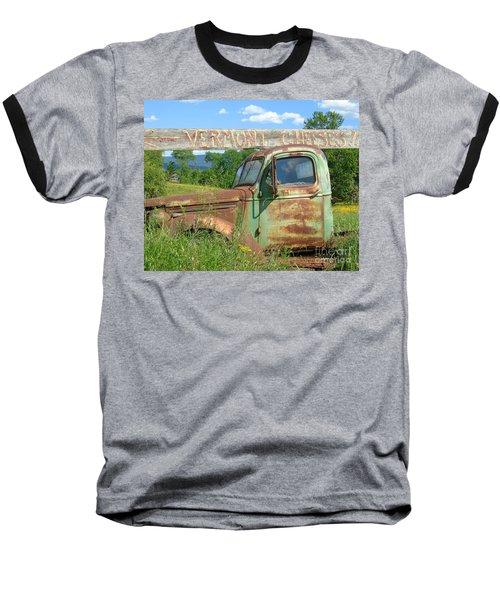 Vermont Cheese Baseball T-Shirt by Susan Lafleur