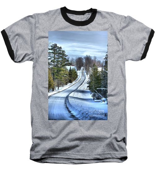 Vermont Country Landscape Baseball T-Shirt by Deborah Benoit