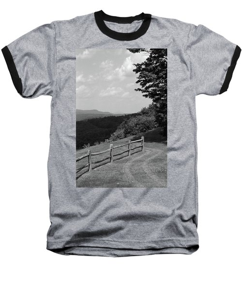 Baseball T-Shirt featuring the photograph Vermont Countryside 2006 Bw by Frank Romeo