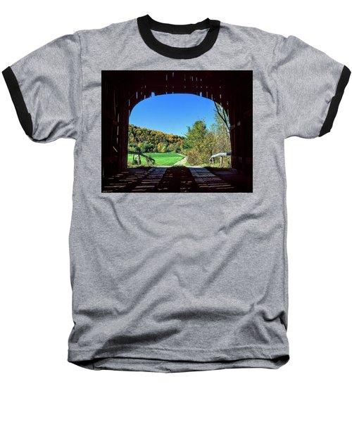Vermont Covered Bridge Baseball T-Shirt