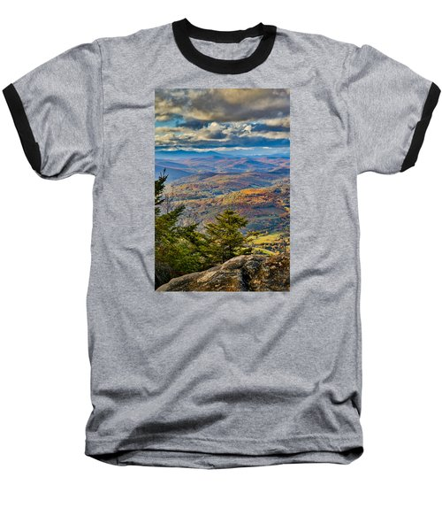 Vermont Foliage From Mt. Ascutney Baseball T-Shirt