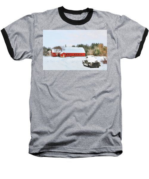 Baseball T-Shirt featuring the digital art Vermont Memories by Sharon Batdorf