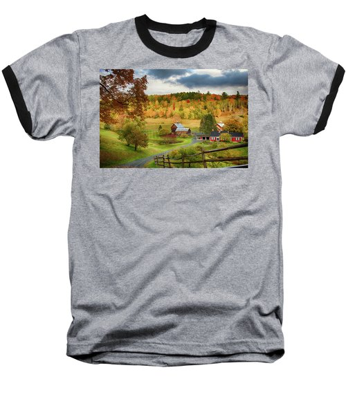 Vermont Sleepy Hollow In Fall Foliage Baseball T-Shirt