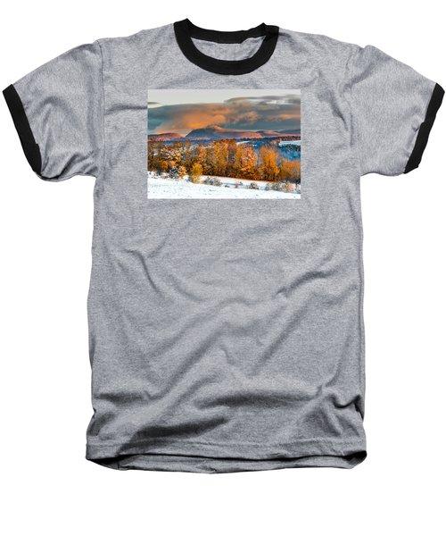 Vermont Snowliage Scene Baseball T-Shirt