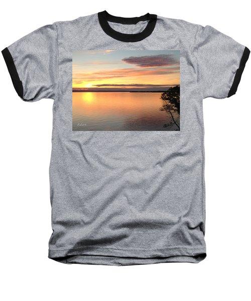 Vermont Sunset, Lake Champlain Baseball T-Shirt by Felipe Adan Lerma