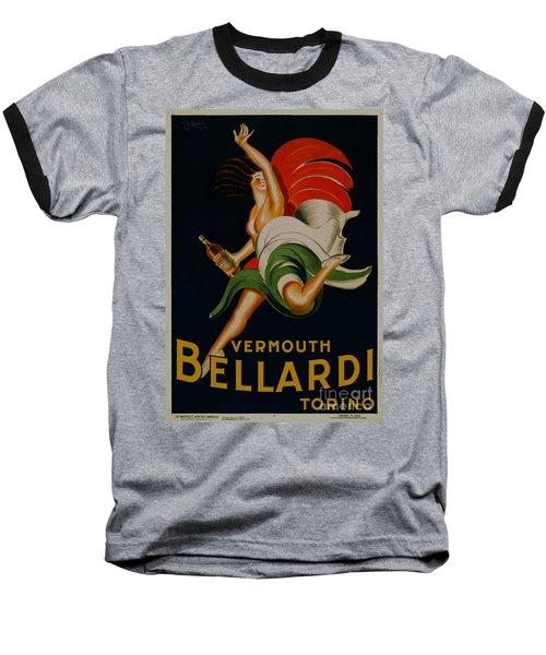 Vermouth Bellardi Torino Vintage Poster Baseball T-Shirt