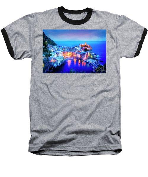Vernazza At Dusk Baseball T-Shirt