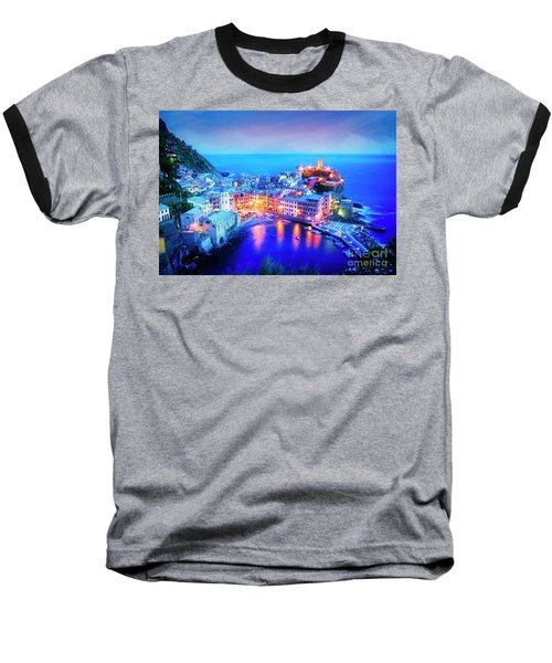 Vernazza At Dusk Baseball T-Shirt