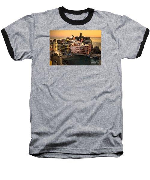 Vernazza At Sunset Baseball T-Shirt