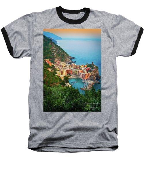 Vernazza From Above Baseball T-Shirt