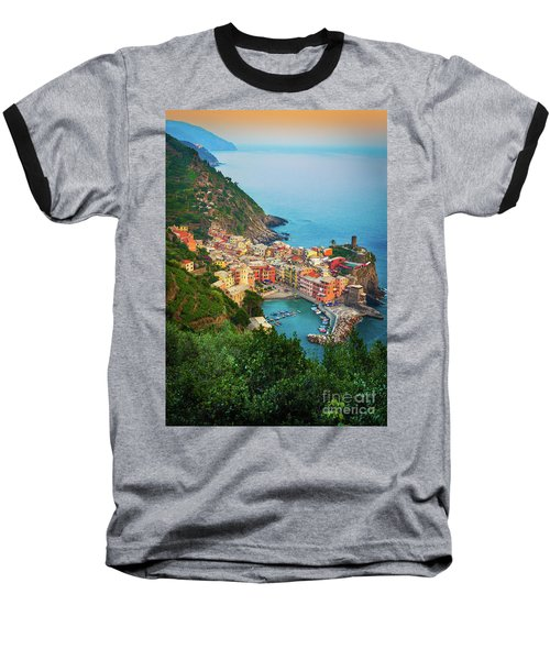 Vernazza From Above Baseball T-Shirt