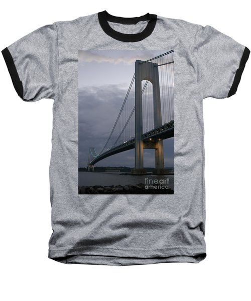Verrazano Bridge Baseball T-Shirt