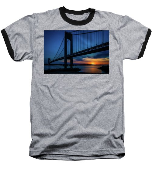 Baseball T-Shirt featuring the photograph Verrazano Sunset by Chris Lord