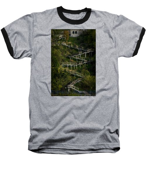 Vertical Stairs Baseball T-Shirt by Celso Bressan
