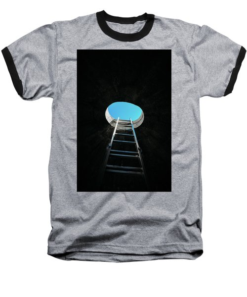 Vertical Step-ladder On Ceiling Window  Baseball T-Shirt
